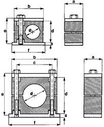 Стандарт Хомуты в полипропилене, самозатухающем полиамиде, резине или алюминии