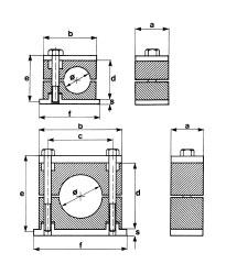 Стандарт Хомуты с верхней плитой из полипропилена, самозатухающего полиамида, резины или алюминия